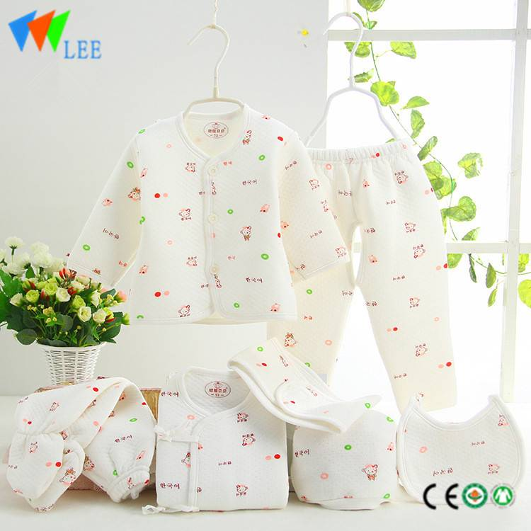 100% cotton newborn baby clothing gift sets printing