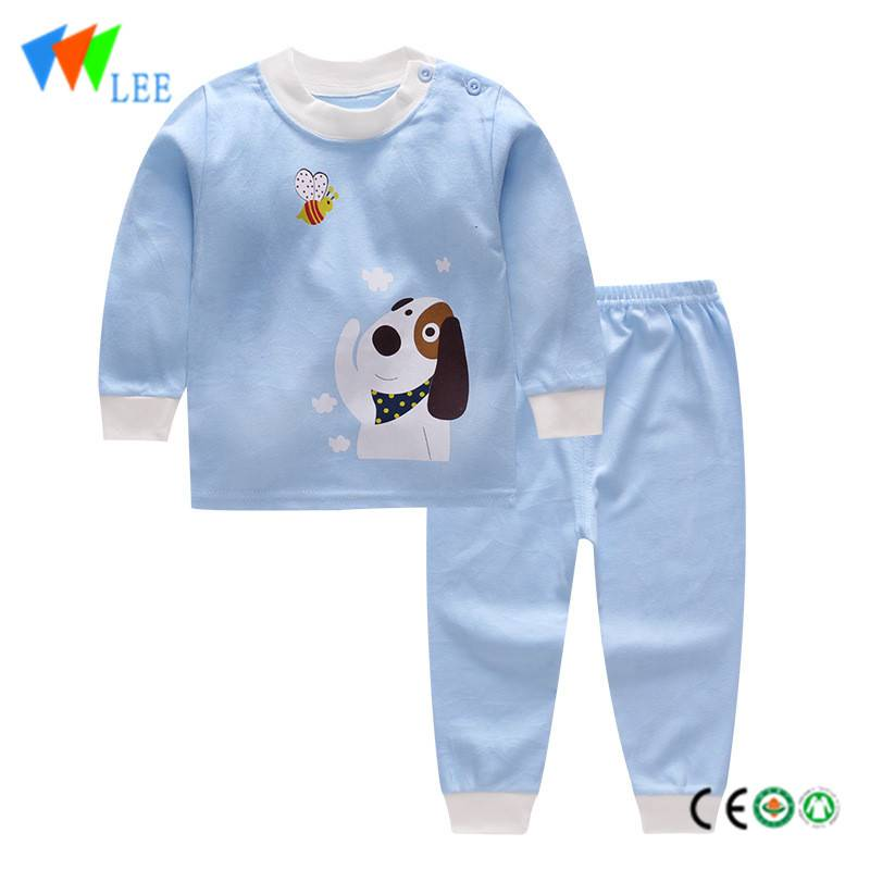 wholesale kids baby clothing sets printed comfortable lovely home pajamas.