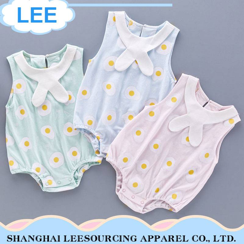 Top Quality Short Sleeves Summer Bamboo Fiber Baby Romper