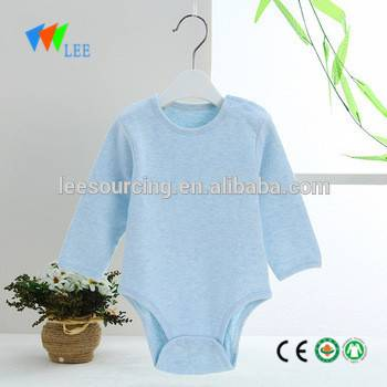 Hot sale summer long sleeve eco bamboo baby romper blank