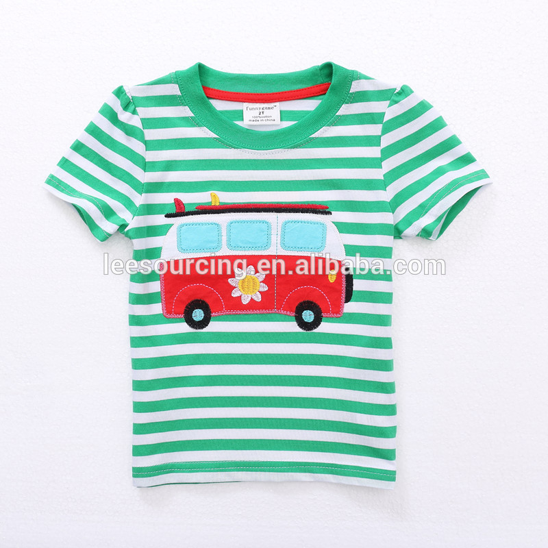 Factory Outlets Boys Shirt Pants Set - High quality cotton striped summer wholesale girls kids cartoon t-shirt – LeeSourcing