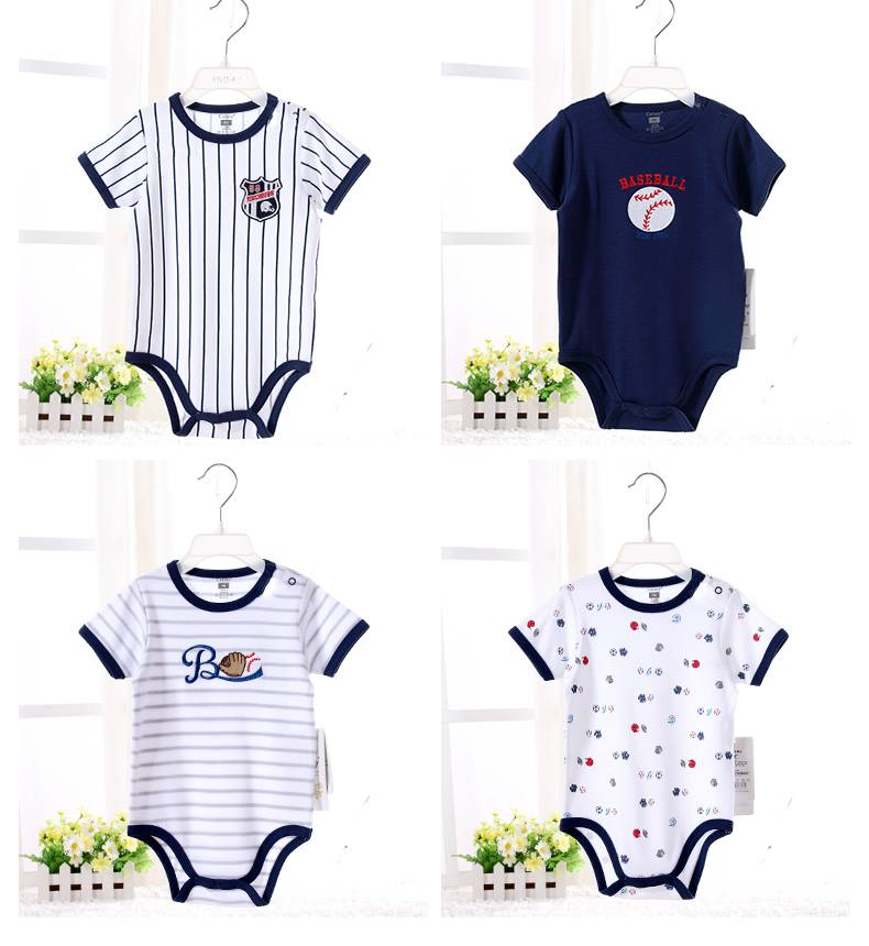 2017 High Quality Custom Printing Striped Baby Bamboo Romper
