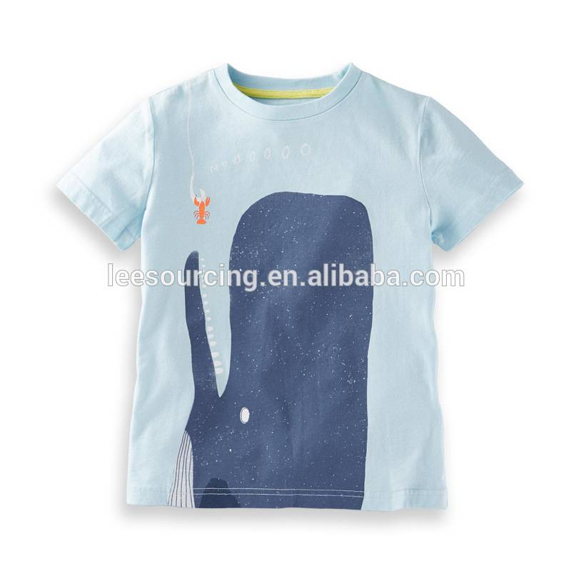 Wholesale kids clothes baby 100% cotton print boys t shirt