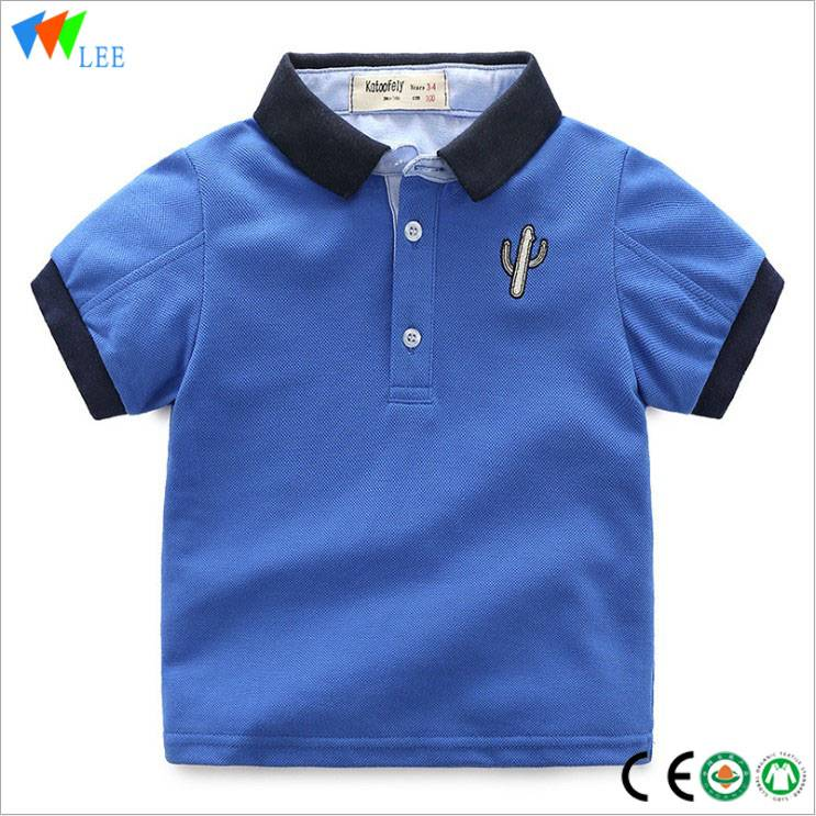 Hot sale embroidery baby boys fashion polo t shirt