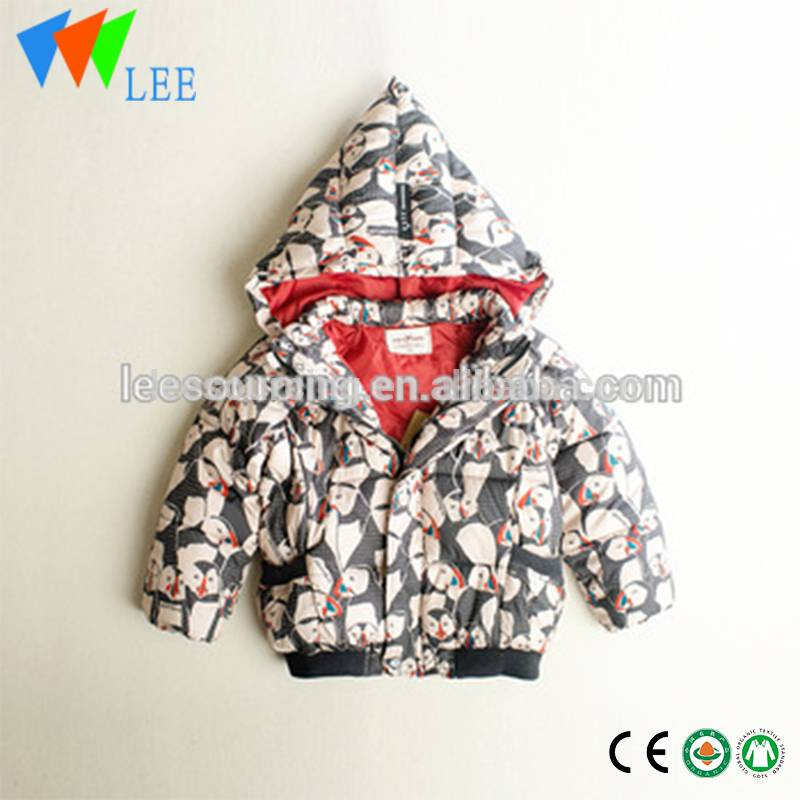 New design boys winter jacket baby boy hooded thick warm outwear cotton Jacket