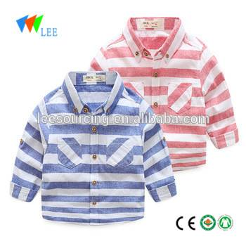Western style boutique boys cilên zarokên baby sleeve dirêj shirts stripe kids bikini tops wholesale