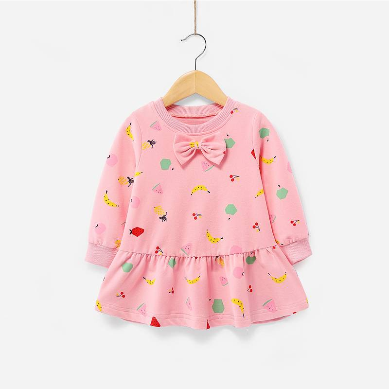 Fashion Children Apparel Comfortable Feeling Girls Cotton Dress Materials Fabric Baby Imported Kids Dress