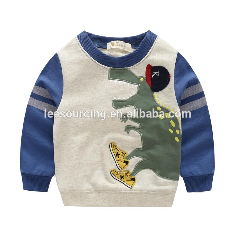 Wholesale children sweatshirt baby boy dinosaur printing sweatshirt clothes tops