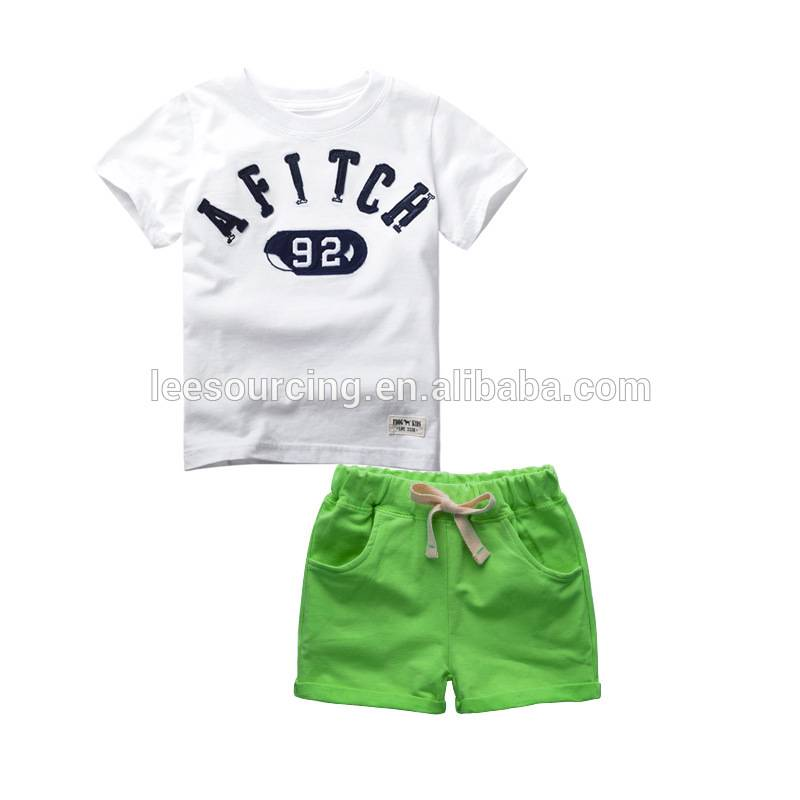 Summer fashion matching clothing sets new kids wear boys t shirt baby clothes set