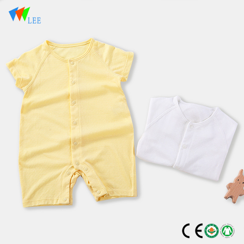 Cheap price Leggings For Baby Girl - Top quality baby clothing romper organic bamboo toddler body-suit baby knitted romper wholesale – LeeSourcing
