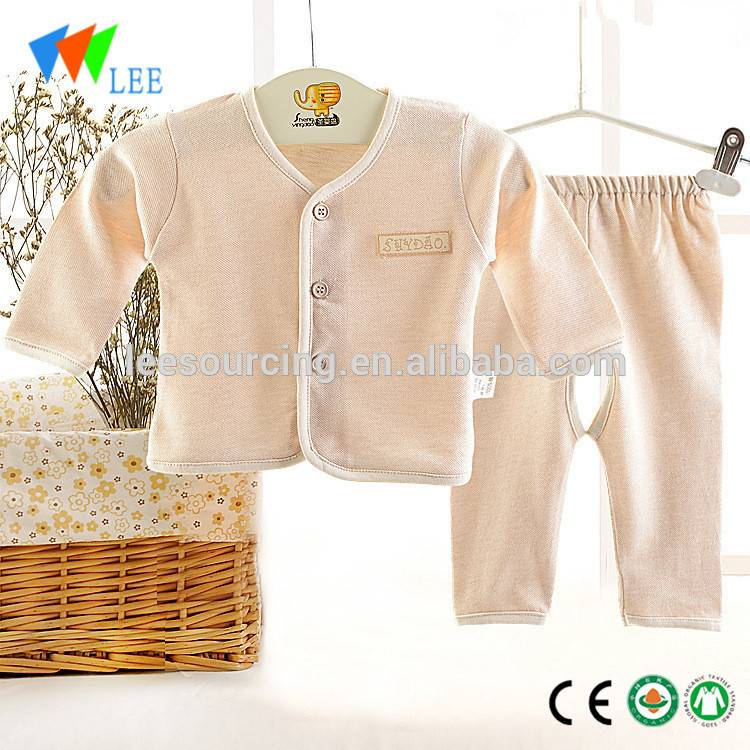 Summer newborn baby 100% organic cotton soft gift set infant clothes set