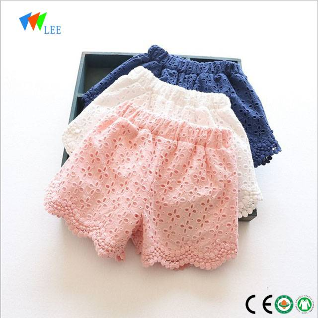2018 summer new design cotton baby girls shorts pants