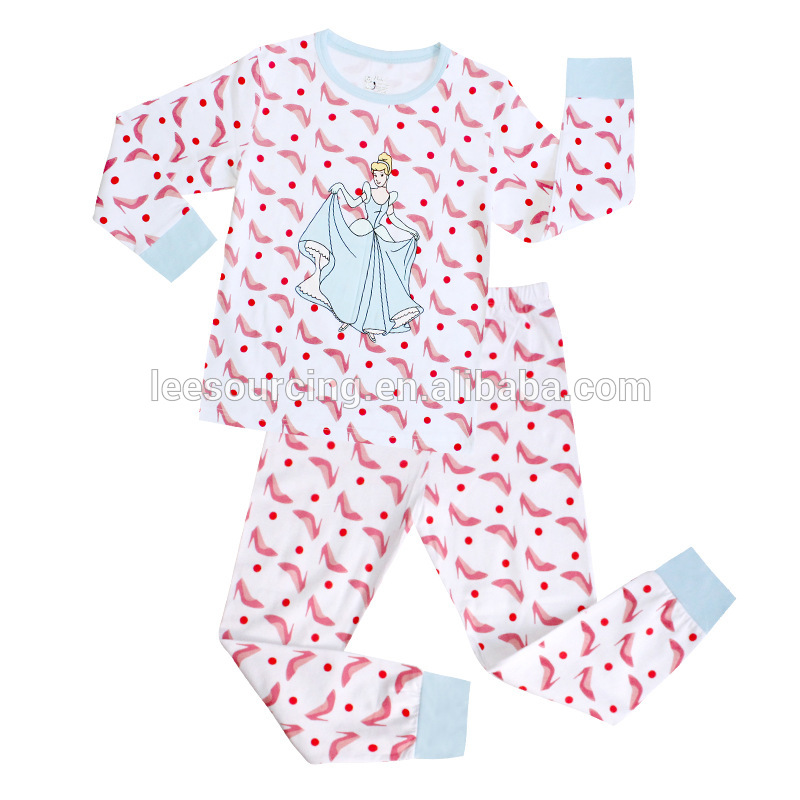 Wholesale Cute Baby Girls Cartoon Printed pijama Clothes Set Children musha kusakara misoro uye bhurukwa wakaiswa