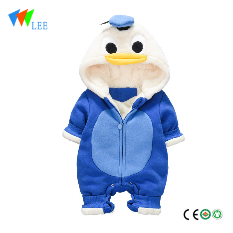 Baby winter thicken cotton long sleeve cartoon cuty baby rompers