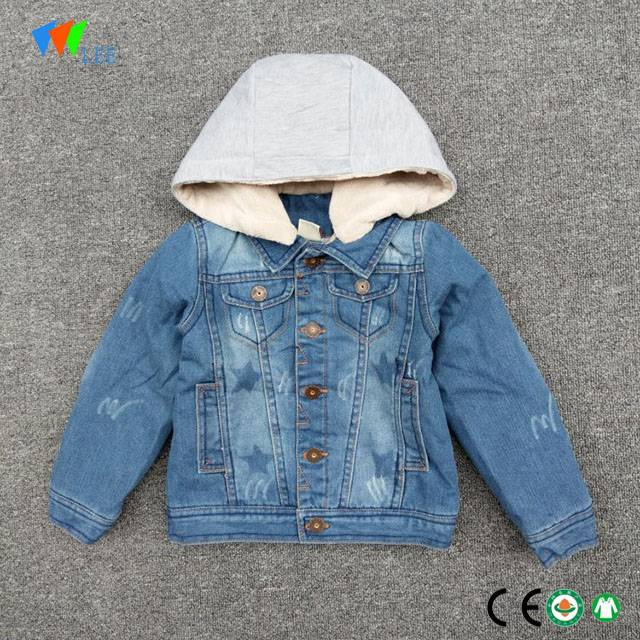 new design baby boys kids boutique denim jacket