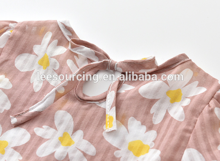 Wholesale girls cute full printing floral t shirt casual children tops
