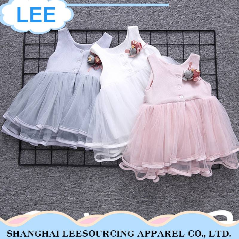 Hot Selling high quality party cute baby girls dresses