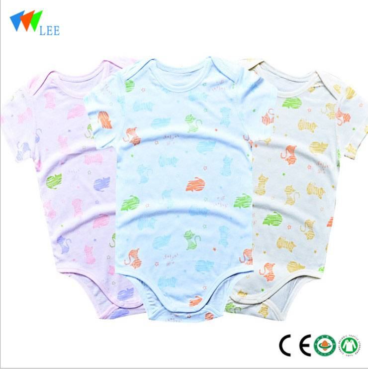 China Manufacturer very popular cheap price Baby clothing Bamboo Cotton Plain White Newborn Baby Clothes Romper