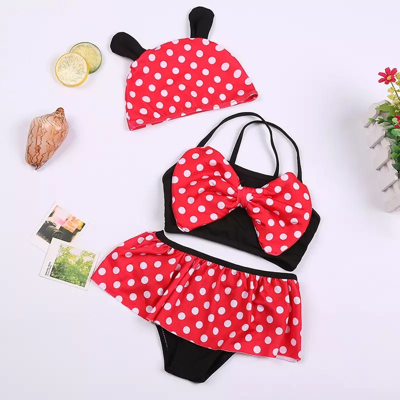OEM Summer Fashion children clothes baby girls boutique clothing swim suit set