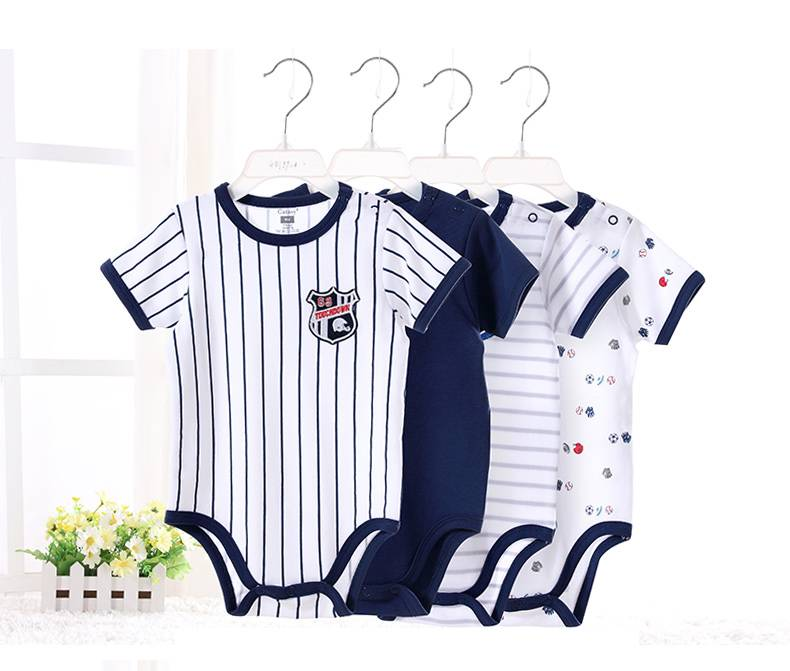 Wholesale Baby Bamboo Bodysuit Short manica Baby Romper Set