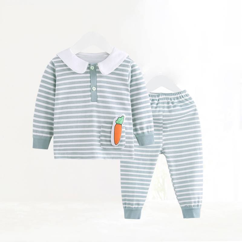 High Quality Thick Warm Fleece Baby Clothing Set for 1-4 years old kids