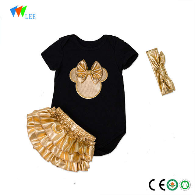 1-2T high quality baby girl bamboo body suit dress romper