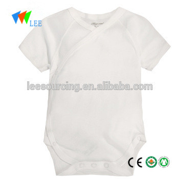 605bbdacd Wholesale short sleeve plain white clothes baby romper bamboo baby onesie