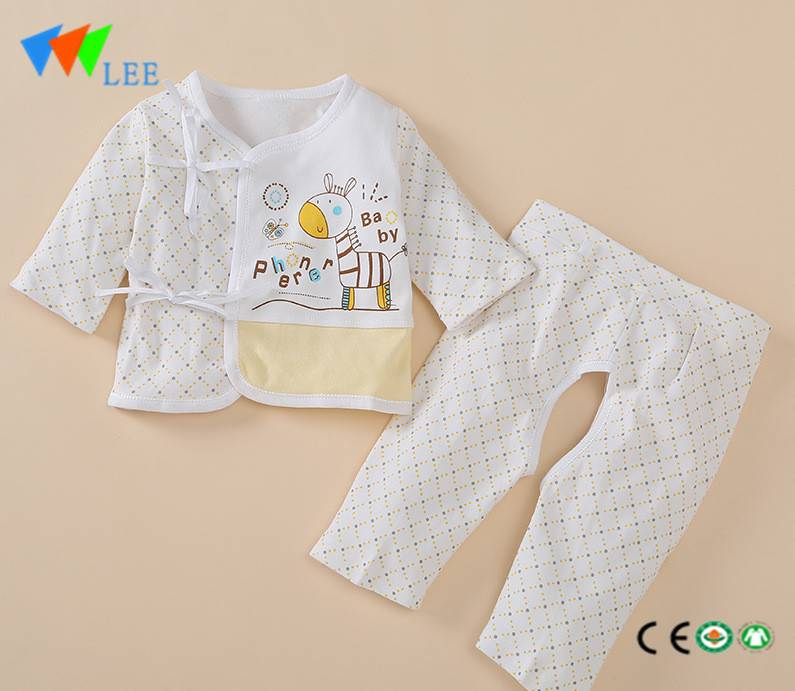 autumn spring baby long sleeve cotton clothing newborn infant clothes sets