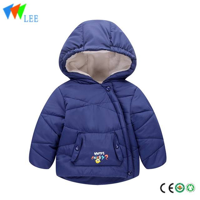 yara al'ada baby boys waje thicken saukar da jacket da Hoodie for winters