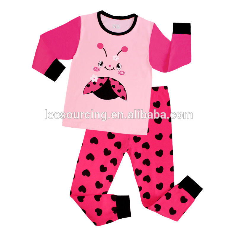 Western Style Cartoon Printed Baby Home Wear Nightclothes 100% Cotton Children Pyjamas Kids Clothing set wholesale