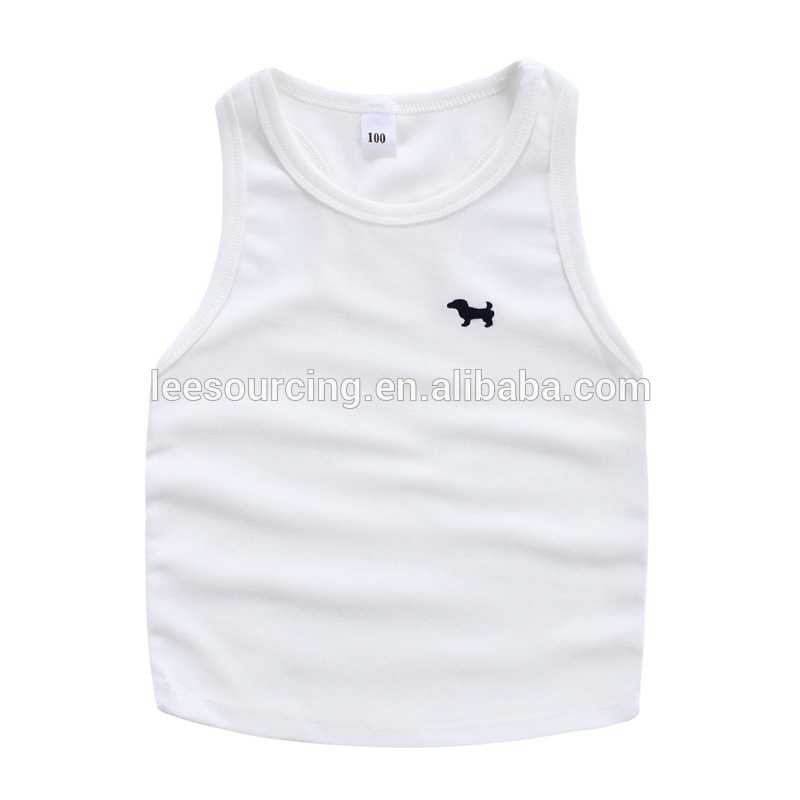 Wholesale Children Cotton Top Clothes I-shaped Kids Vest Unisex Boy Girl Sleeveless T-shirt
