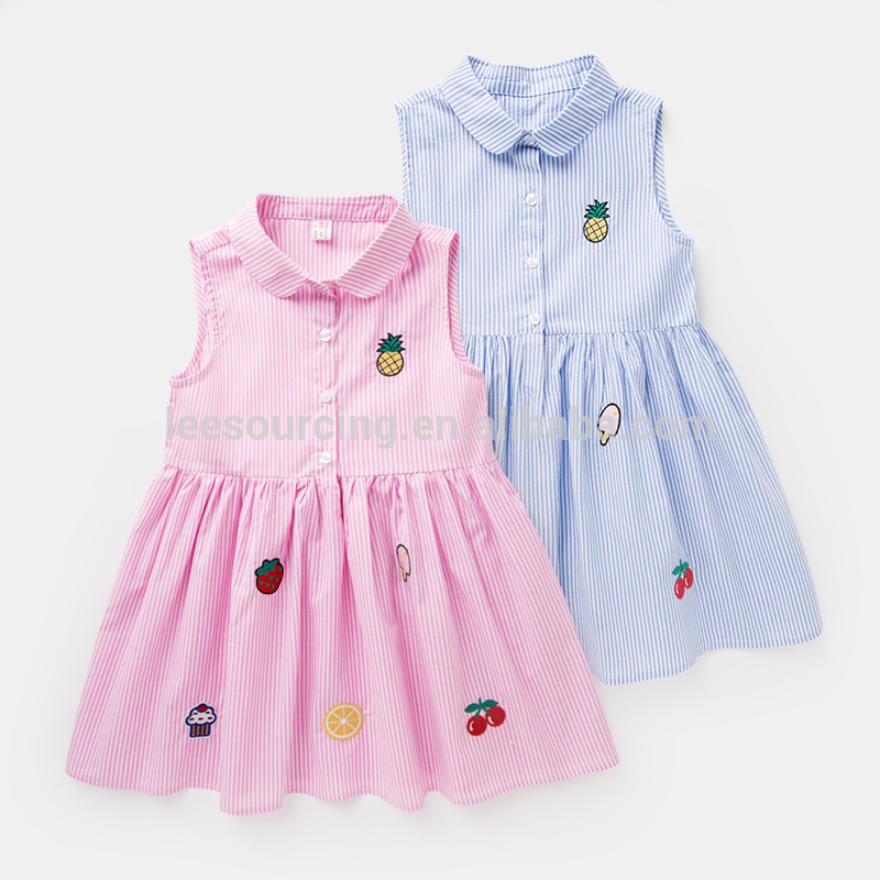 Baby 2 year old girl dress summer girls cotton apparel fashion candy clothing wholesale toddler pretty dresses