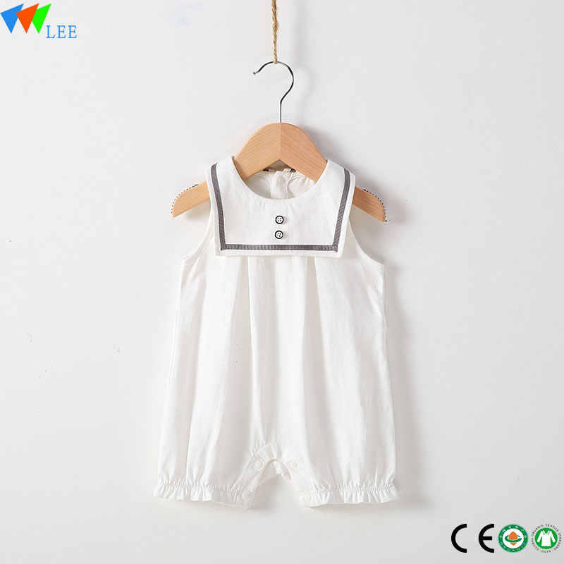 Wholesale High Quality Organic Cotton Blank Baby Onesie