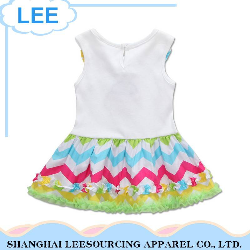 New Type Summer Wear Children Girl Rainbow Dresses