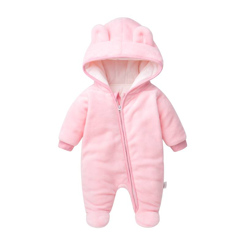 2017 Winter Children's Clothing Wholesale Flannel Long Sleeve Baby Romper Featured Image