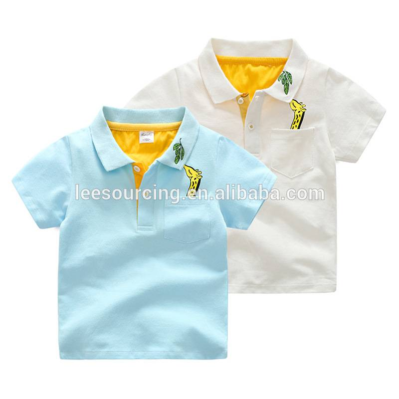 wholesale kid school shirts boys turn down collar fashion cotton top