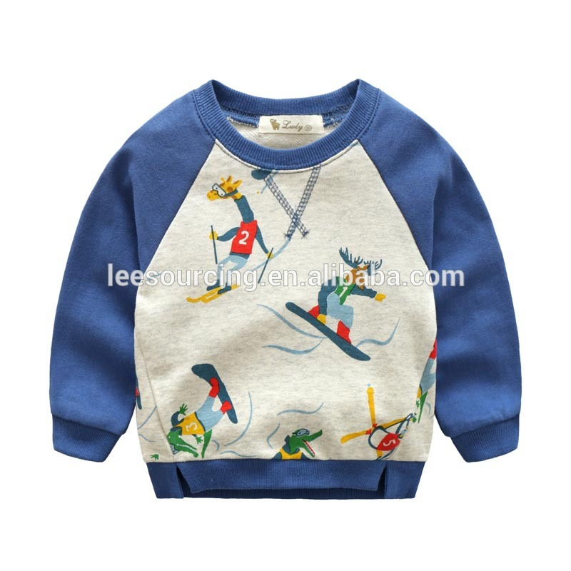 Children French terry sweatshirt baby boy printing sweatshirt tops clothes for spring Featured Image