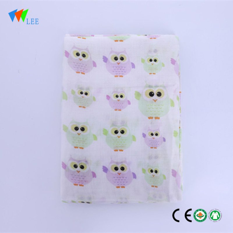 2017 muslin  new design and fashionable style wholesale high quality soft baby bamboo fiber blanket