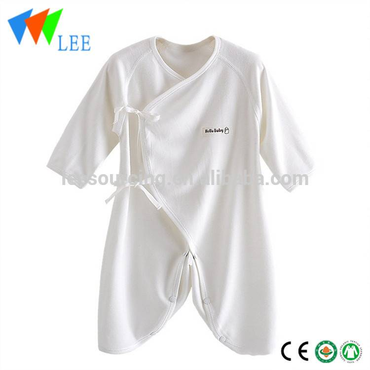 Romper nûbûyî Eco Sleepsuit Clothing Plain White Baby Bamboo