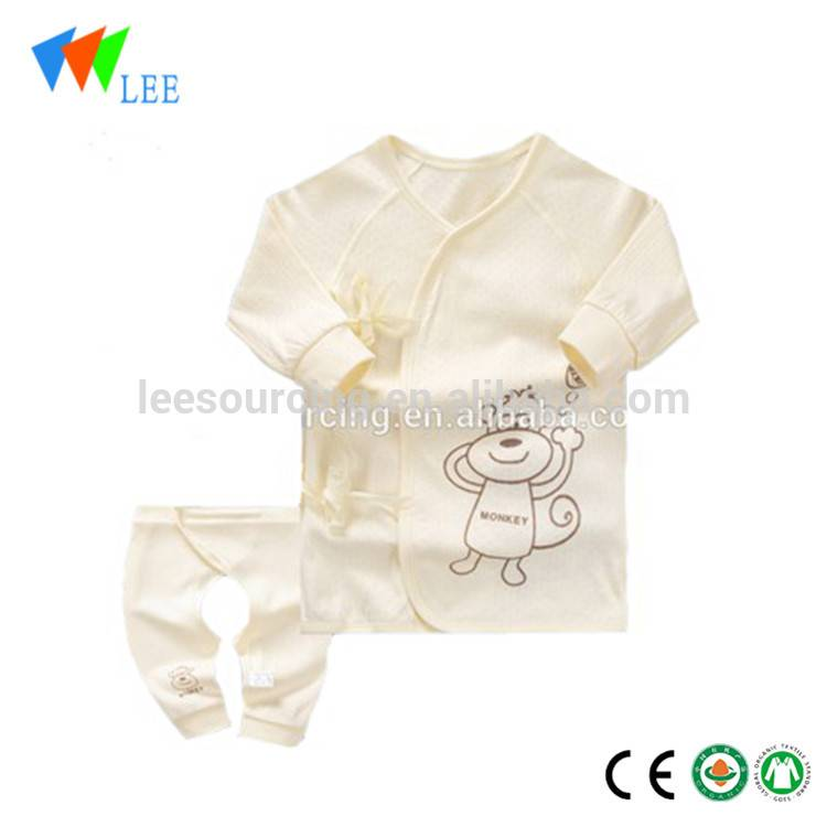 long sleeve baby bamboo romper 2pcs bamboo baby set