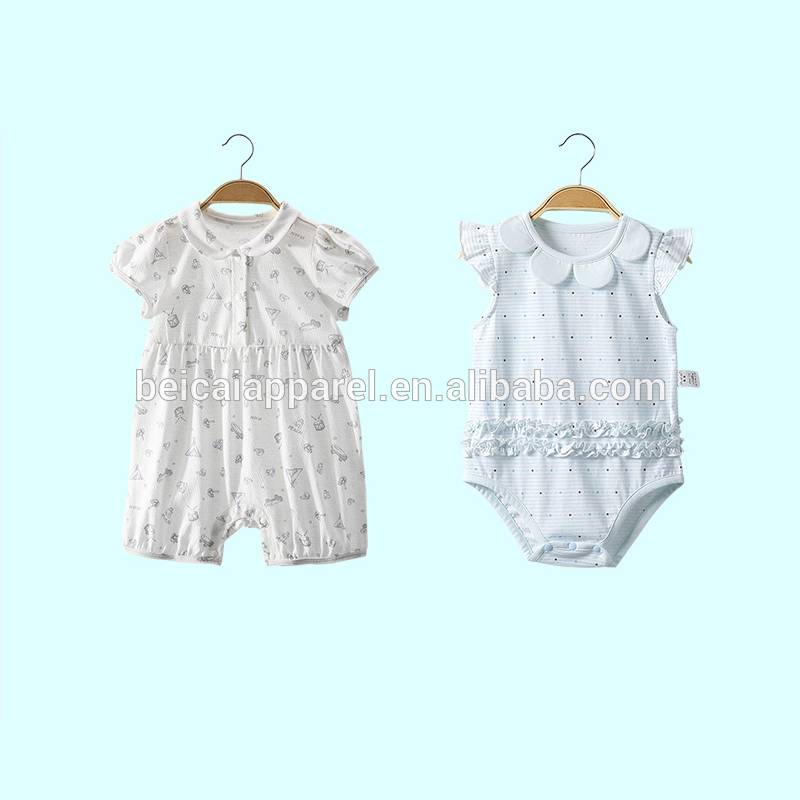 2017 Summer New Infant clothes newborn 2pcs bamboo baby romper set