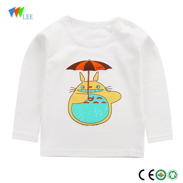new design baby child fashion cotton long sleeve t-shirt
