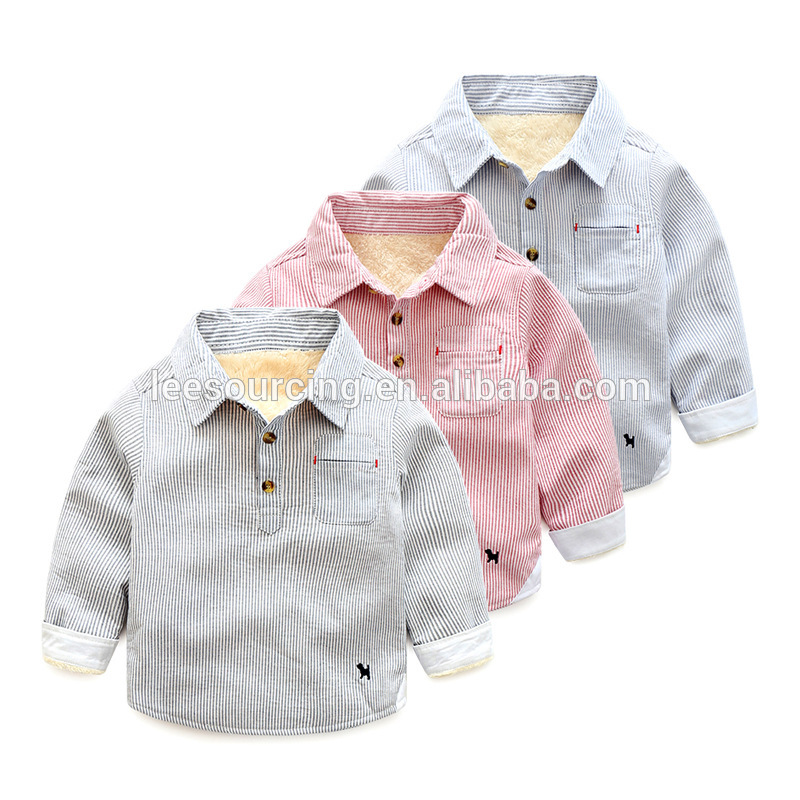 Factory Price Kids Pajama Set - Wholesale New Design Baby Boy Winter Shirts – LeeSourcing
