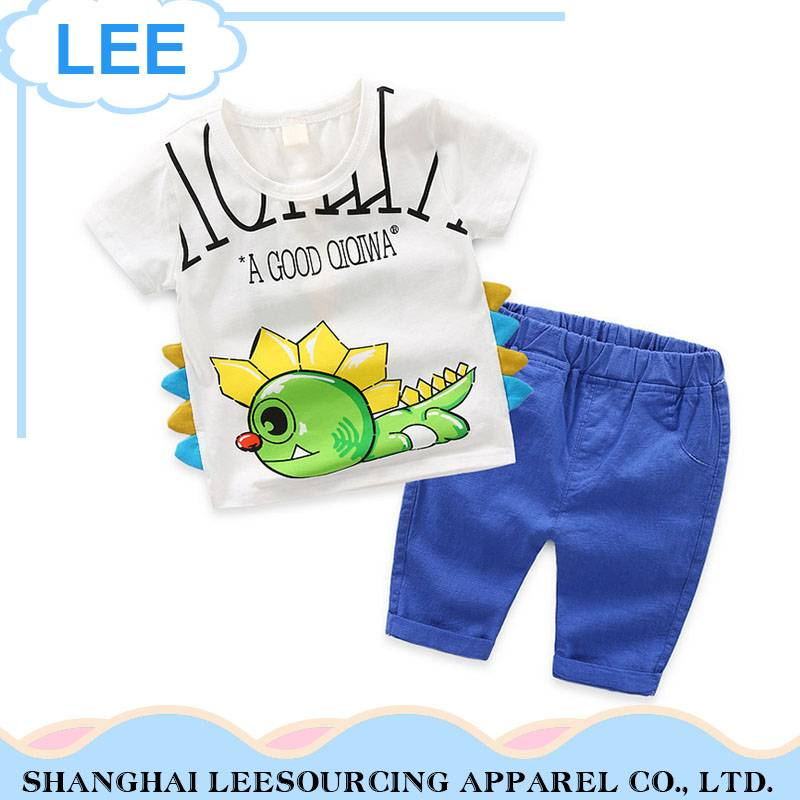 2017 Summer Boy T Shirt Children Shorts Clothes Sets