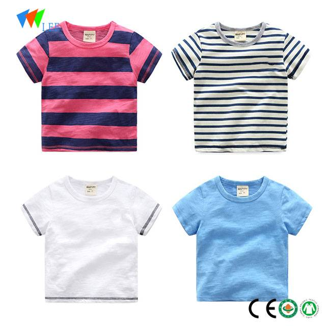 wholesale fashion cotton printing t-shirt for baby boys