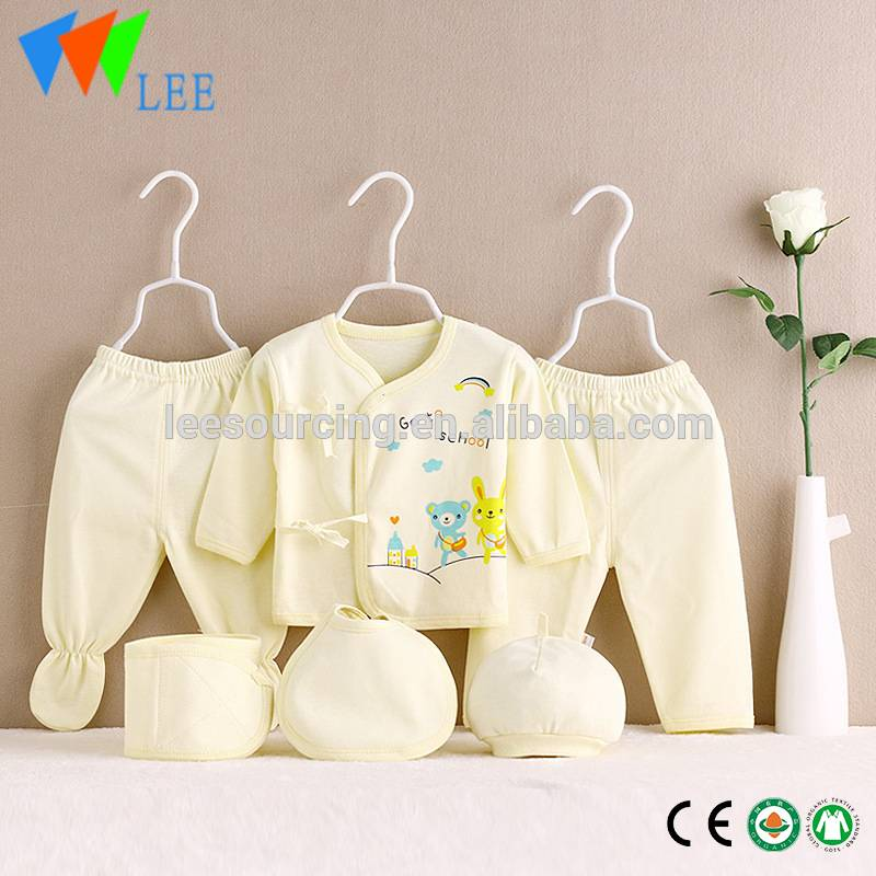 Bulk Price 100% cotton newborn baby set Infant clothing gift set