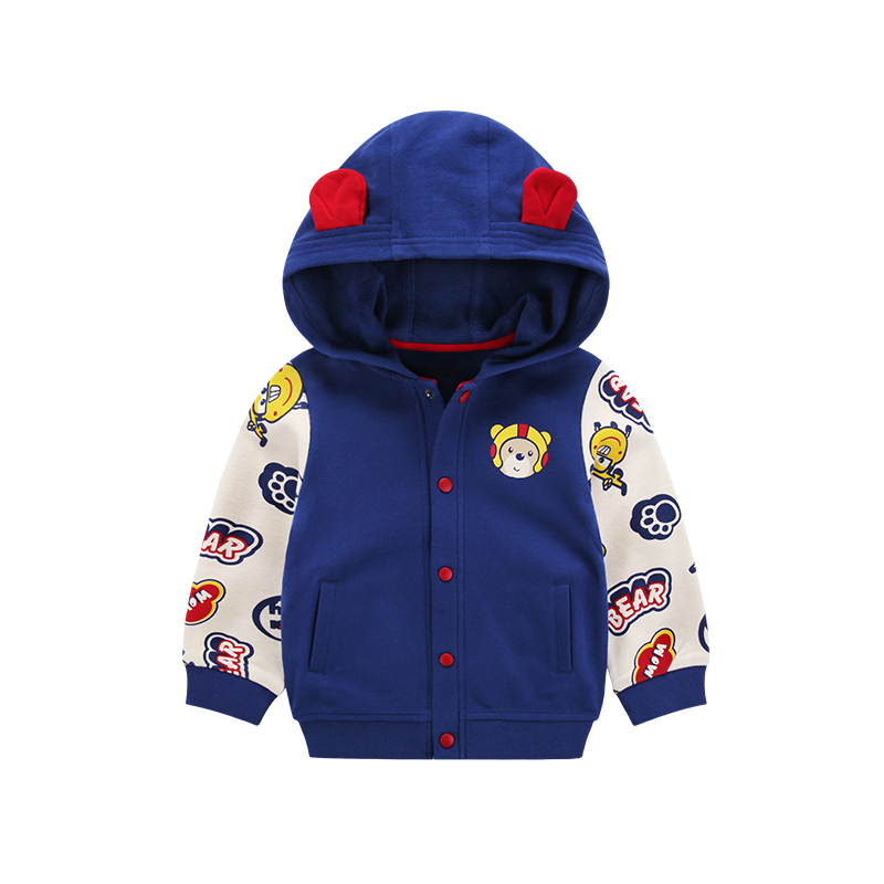 Fashion cute design kids custom jacket children hoodies baby boy outfit