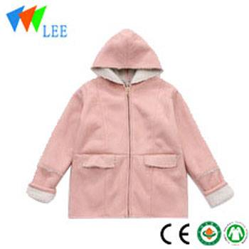 wholesale baby winter cute suede fabric coat