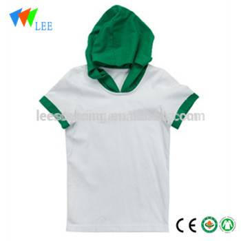 100% cotton polo shirt t-shirt with hood design manufacturer for Children kids top clothes