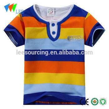 Short Sleeve Round Neck Baby Wear Wholesale Cotton Kids T Shirt